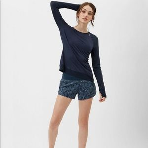 Sweaty Betty Time Travel Run Shorts paisley blue